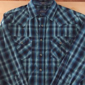 Pendleton Long Sleeve Men's snap button down shirt